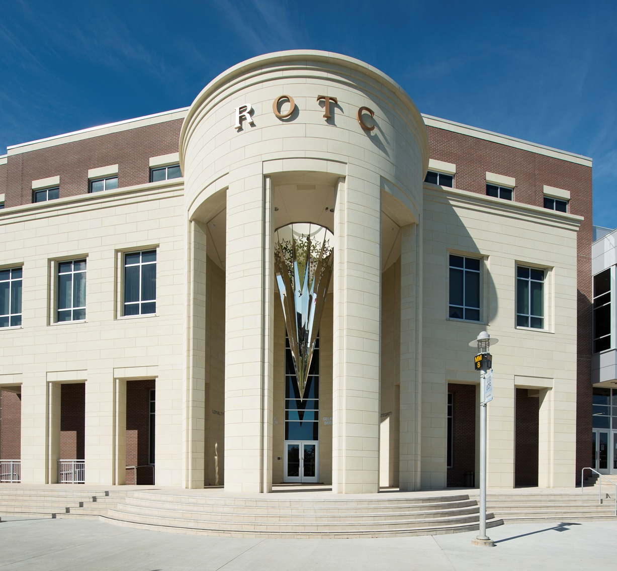 AAS Project : ROTC Classroom at University of Central Florida | Architectural Stone Created Design of 3-Dimensional Frame for the Unique Sculpture