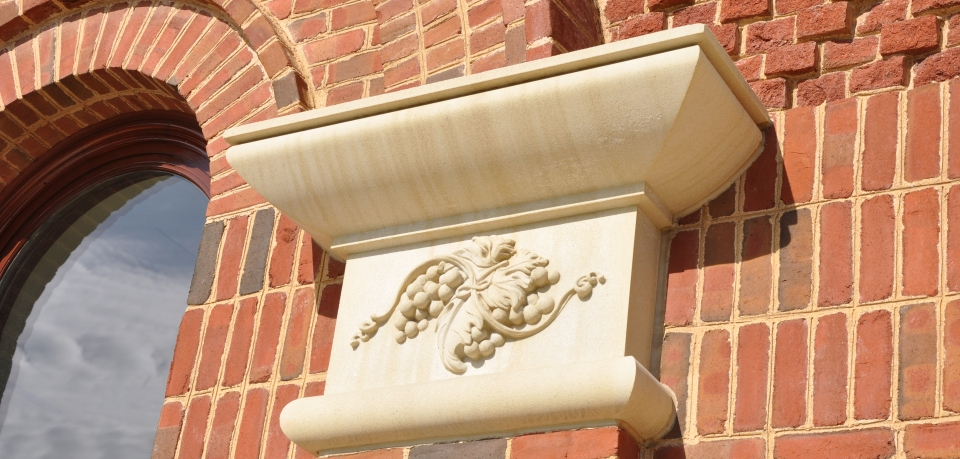 PROJECT: Grapewine Convention & Visitors Bureau | Cast Stone | Architect: ArchiTexas | Contractor: Thomas S Byrne