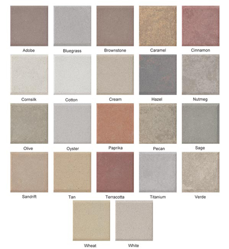 AAS Stone Panel Color Chart | Premium Colors