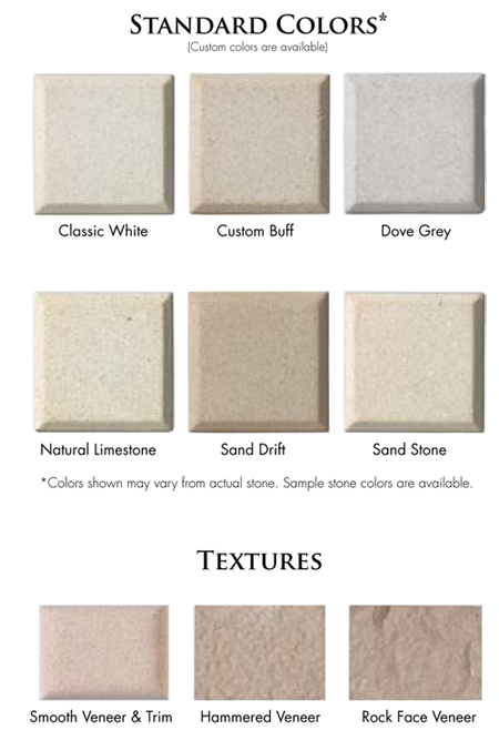 AAS Stone Panel Color Chart | Standard Colors