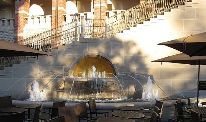 USC Ronald Tutor Campus Center | Cantilevered Fountain, Stair Way using Architectural Precast
