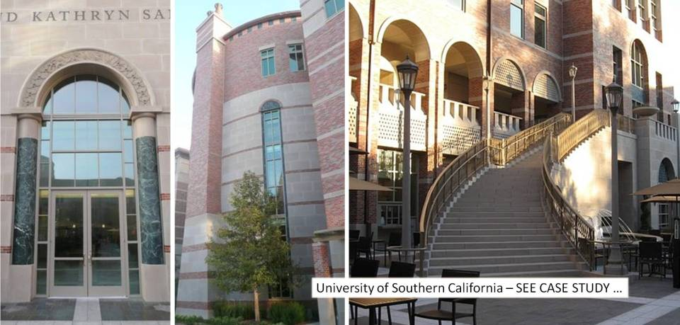 USC Ronald Tutor Campus Center   AC Martin Partners Architects   R & R Masonry