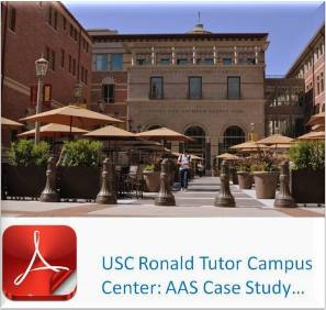 Advanced Architectual Stone (AAS - formerly Advanced Cast Stone) Case Study - USC Roland Tutor Campus Center