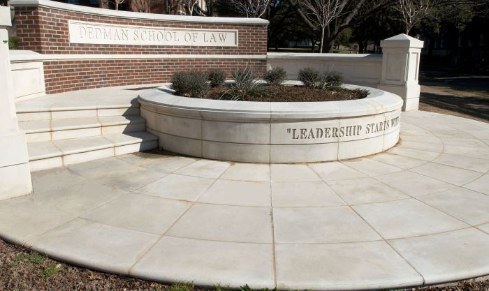 AAS Color Matching Capability - Quality and Consitency - Sign and Entry Way at Dedman School of Law