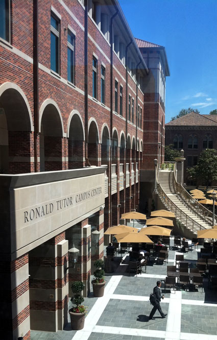 USC Ronald Tutor Campus Center | Architect: AC Martin Partners Architects | Mason: R & R Masonry | Materials Used: Cast Stone, Architectural Precast, GFRC | The Building Blended with Campus Ambiance Creating a Cultural Hub for the USC Campus