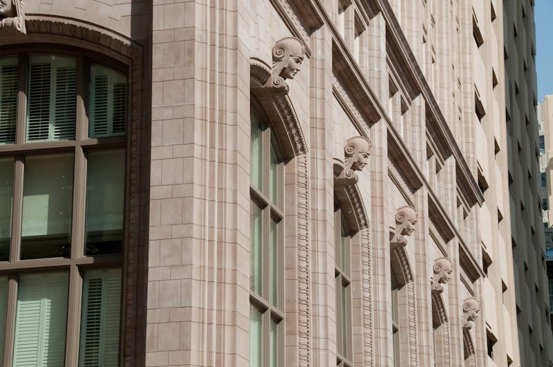 PROJECT: 714 Main Street | Cast Stone, Precast, GFRC | Schwarz-Hanson Architects | General Contractor: KHK Group, Ltd | Bear Masonry | Cast Stone Color Matching with Existing Terracotta Exterior | Seamless Color Matching and Finish