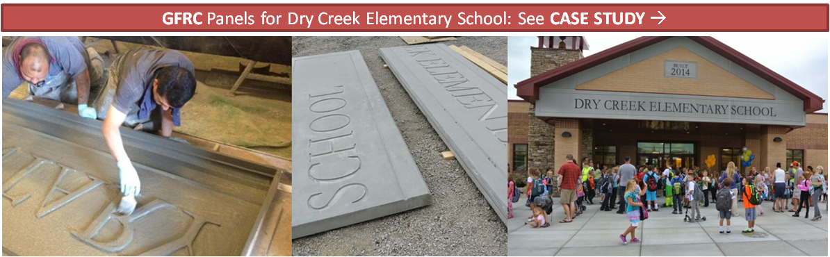 GFRC Panels for Dry Creek Elementary School - AAS - formerly ACS - Case Study V01