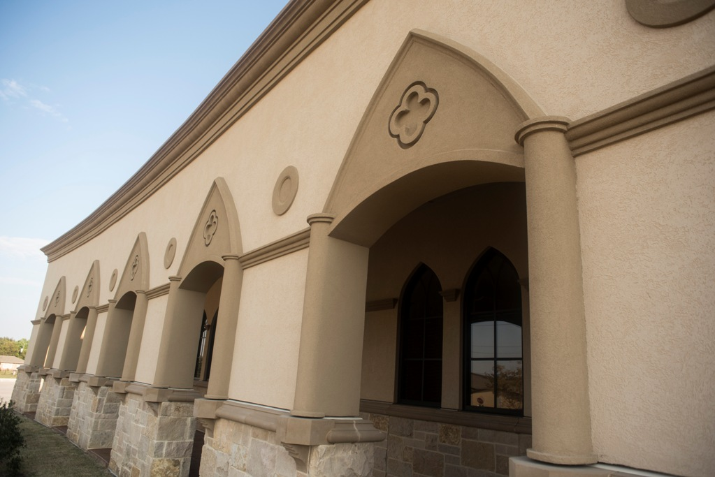 St Jude Catholic Church | Custom Color Cast Stone Surrounds for Doors and Windows | Unique Material Technology and Batch System of AAS