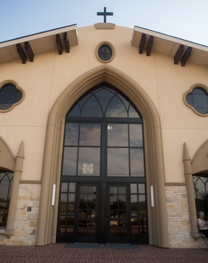 AAS Formerly ACS | St Jude Catholic Church | Specialized Brown Color Effects in Cast Stone for Envisioned Contrast and Aesthetic Appeal
