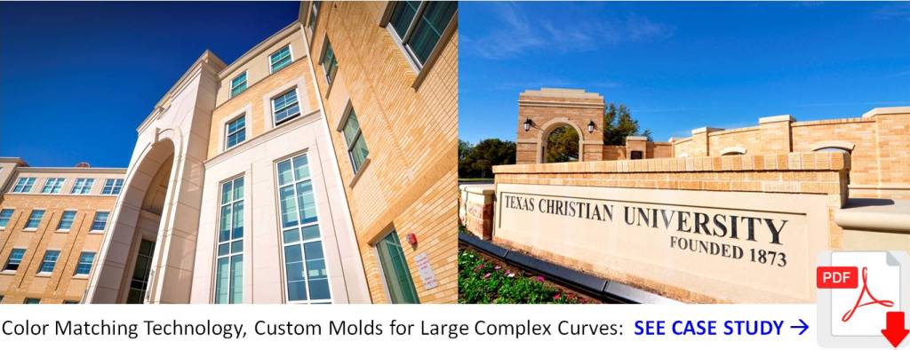 AAS Project - TCU - color matching - custom molds for Large Complex Curves - Download case study