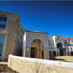 Texas Christian University | Cast Stone Covered Walkways on a Compound Radius Required Precision in Mold Design