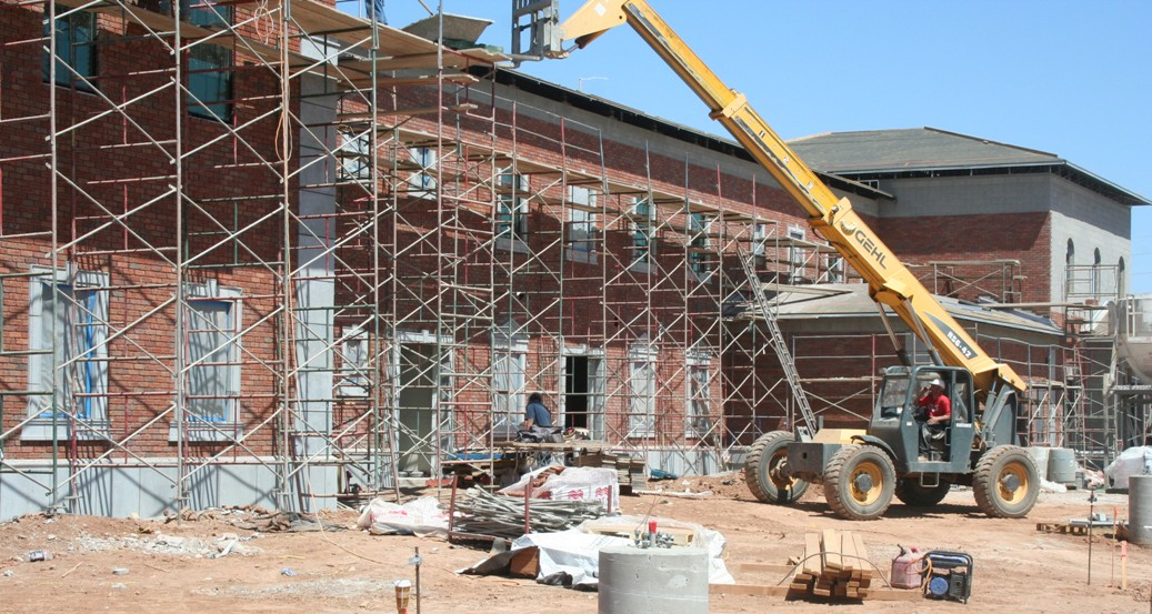 AAS Project | Gilbert Christian School Construction | Exterior Put Together Using Brick Veneer and GFRC