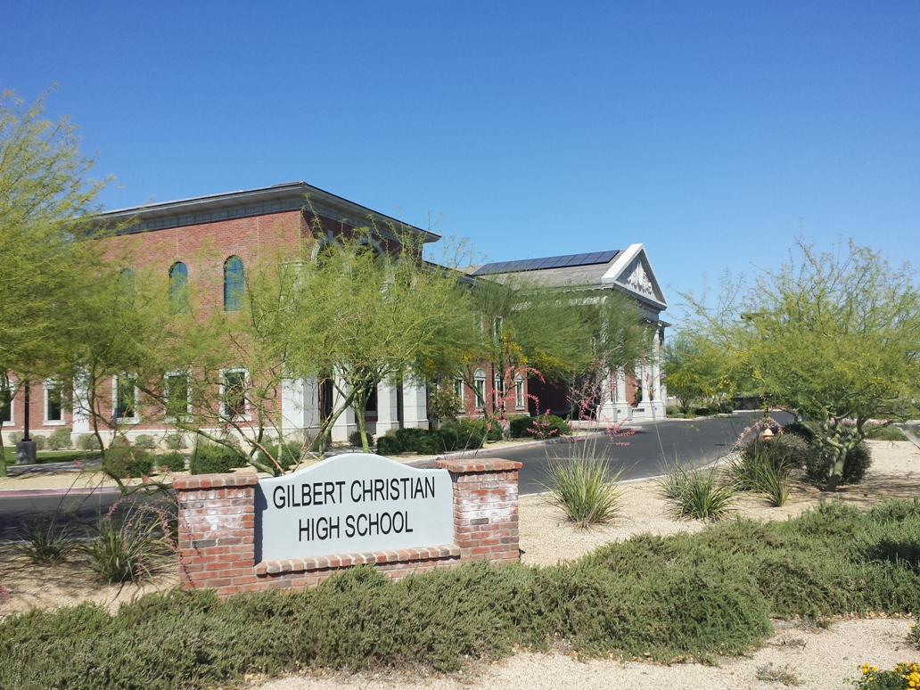 Gilbert Christian High School - GFRC Signage To Go with Architectural GFRC Exterior Elements