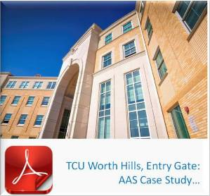 Advanced Architectural Stone Case Study - TCU - Texas Christian University - Worth Hills Campus, Entry Gate