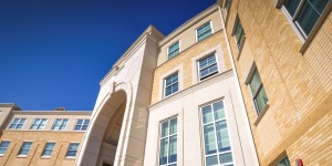 AAS Case Study | TCU Worth Hills | Large Size Custom Shape Cast Stone Panels for Architectural Design