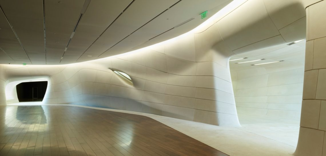 LA State Museum Sports Hall of Fame | Trahan Architects | Cast Stone Veneer Developed using Complex Shaped, Large Cast Stone Pieces Fitting within Stringent Tolerance Requirements | LEARN MORE About Design, Manufacturing Process...