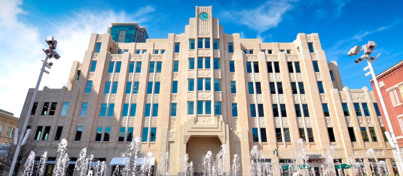 The Westbrook Building at Sundance Square, Ft Worth, TX | Art Deco Design, Custom Design Elements using Cast Stone, GFRC