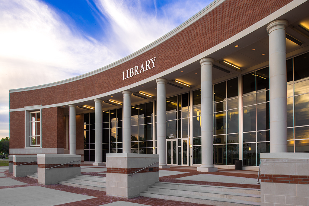 PROJECT: Collin Library | Architectural Cast Stone Columns
