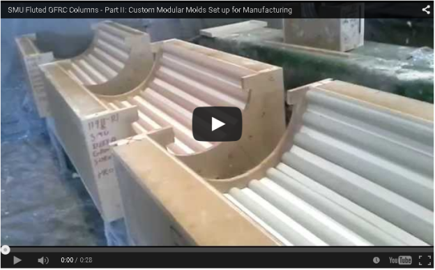Fluted GFRC Columns - Architectural GFRC Manufacturing Process