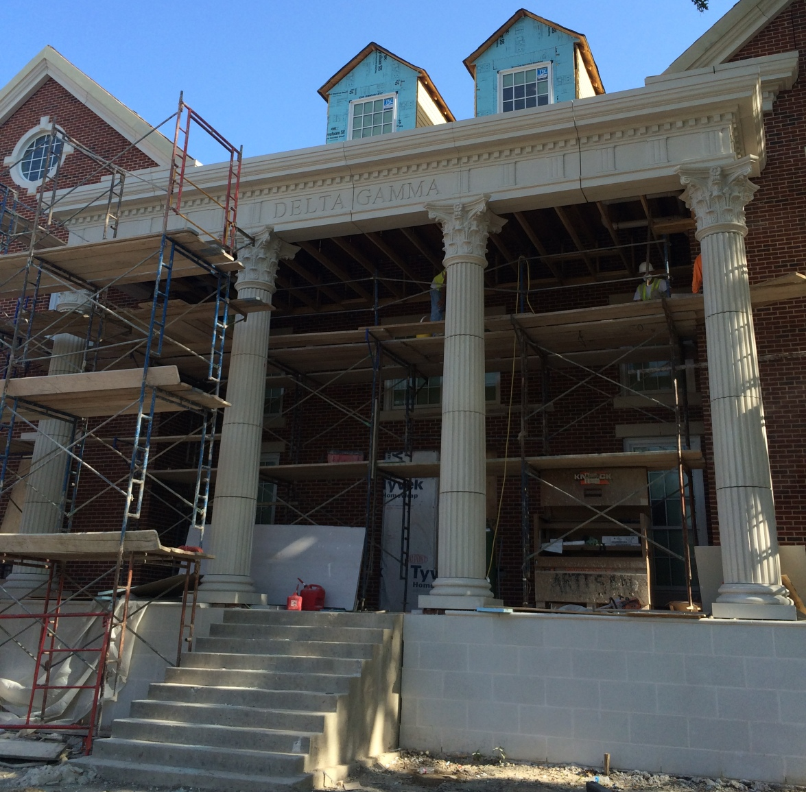 GFRC Fluted Columns with Corinthian Capitals | | Ease of Construction, Installation