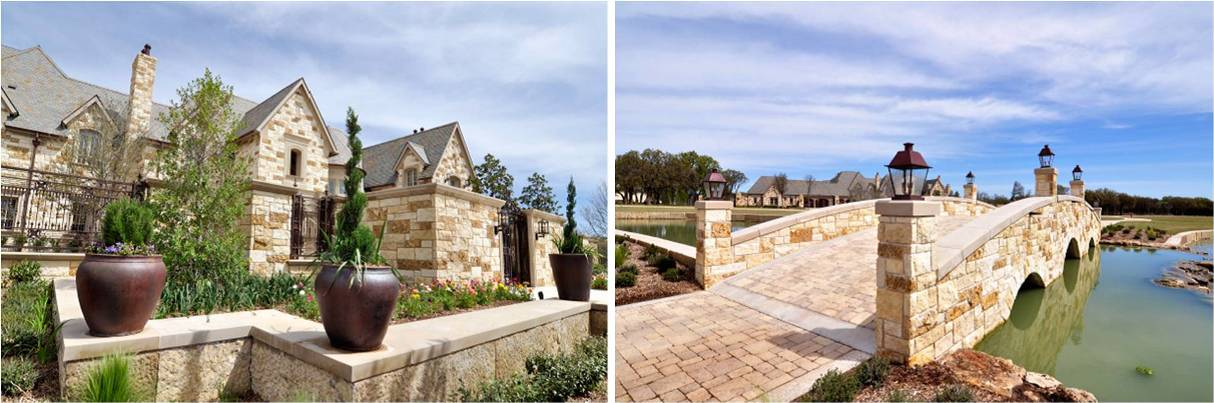 Country Estates Hardscape Design | Wall Caps, Coping on Walkways, Bridges