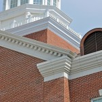 SMU Caruth Hall | Ornate Design at the top | Denteel Frieze all around Eaves using Architectural GFRC | Cornices, Banding, Wall Coping