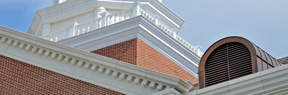 SMU Caruth Hall | Architectural GFRC Cornices, Wall Coping, Design Accent at Higher Elevations