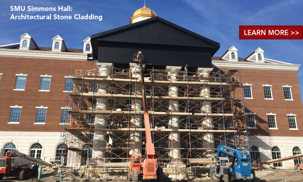 AAS Project: SMU Simmons Hall | Architect: Perkins and Will | General Contractor: Vaughn Construction | Masonry Contractor: Wilks Masonry | Manufactured PRODUCTS: Architectural Cast Stone, GFRC
