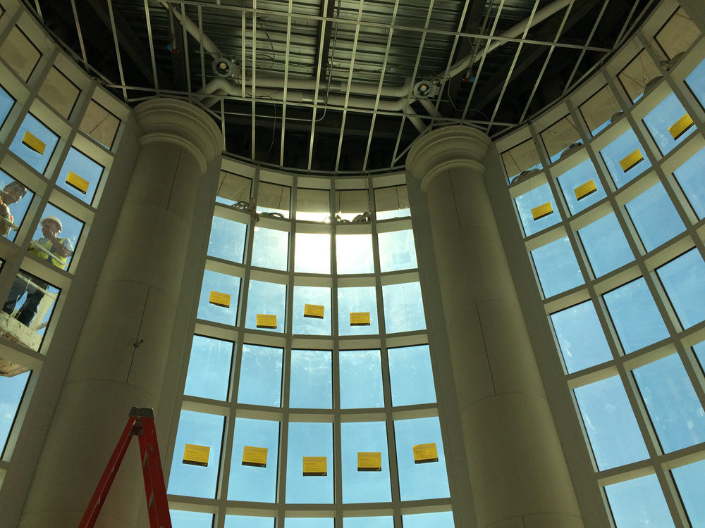 Architectural Columns, Cladding for Portico | Project: SMU Simmons Hall
