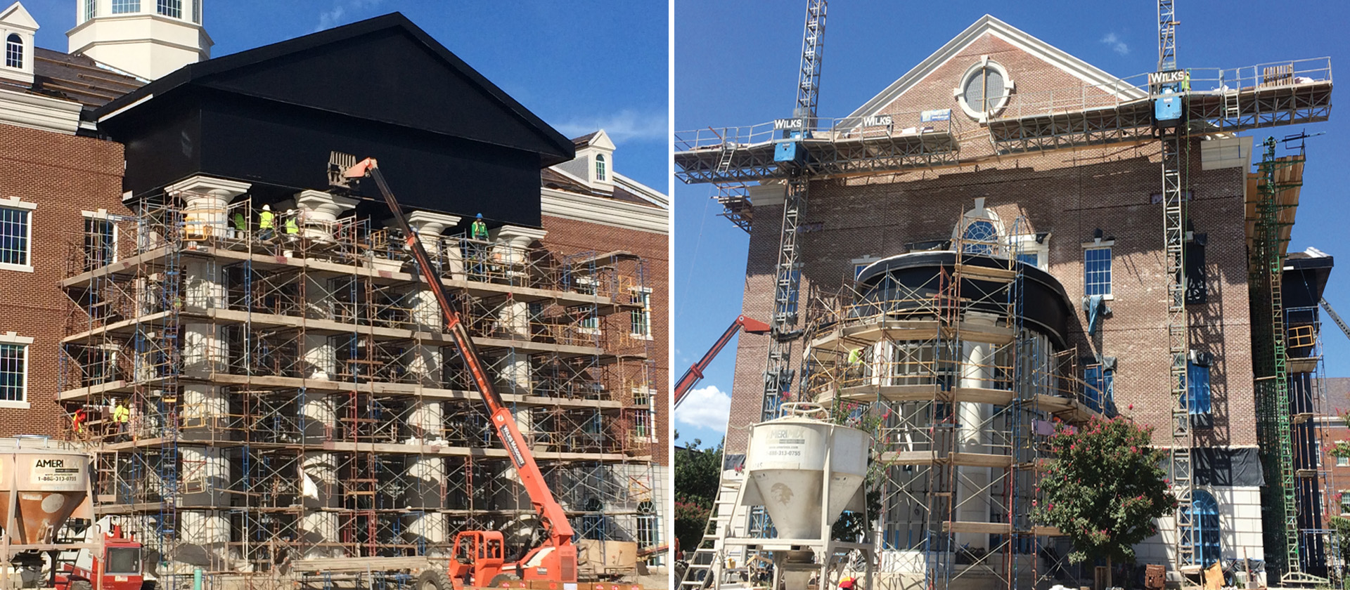 SMU Simmons Hall - Architectural Cast Stone Cladding - Project Planning, Custom Manufacturing, Construction Coordination, Installation Support