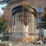 SMU Simmons Hall Construction | Precise engineering, Custom Manufacturing of Architectural Cast Stone for the Portico Columns