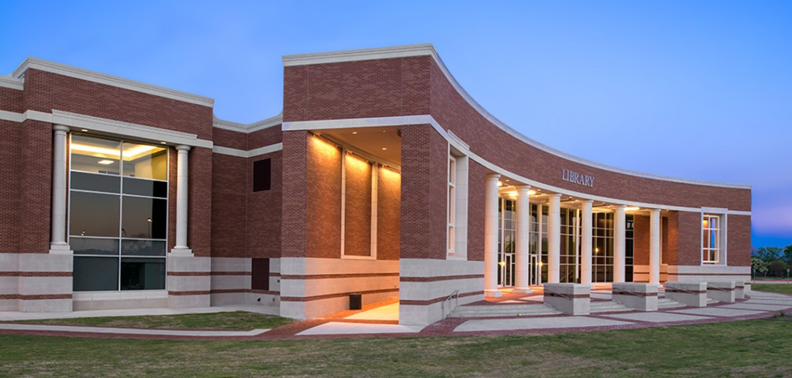 AAS Project: Collin Library Cladding Design | Architectural Columns | Custom Design of Manufactured Stone with Project Management | PBK Architects