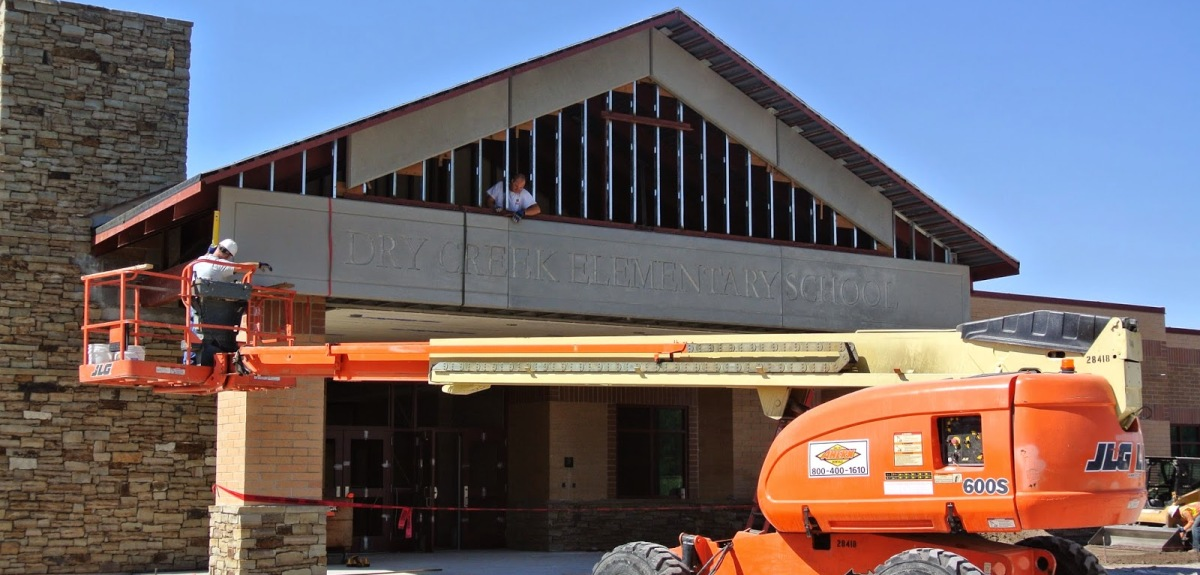 Dry Creek Elementary School | GFRC Panels for School Entry Way | Sandstrom Architecture | Westfield Construction