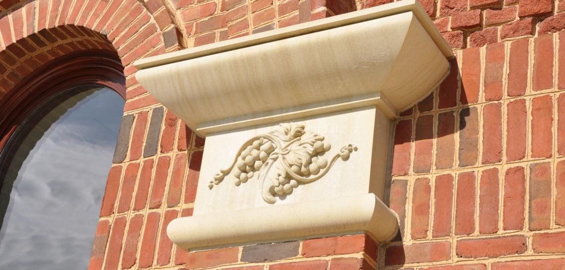 Grapevine Convention Center and Visitors Bureau - High End Leaf Design - Manufactured stone cladding