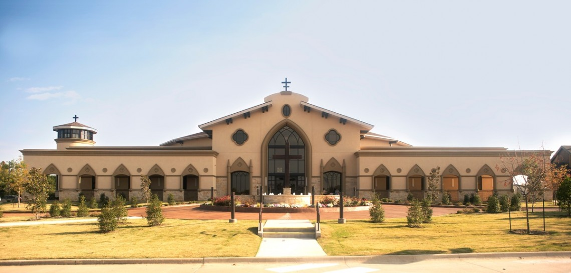 St Jude Catholic Church, Mansfield, TX | Cast Stone with Specialized Chocolate Brown Color Design | Mason: Division 4 | O'Connor Architecture & Interior Designer
