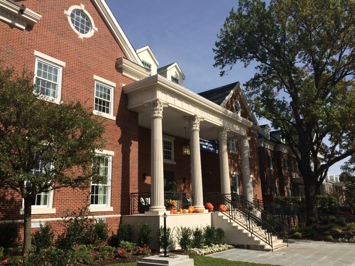 AAS Value Engineering for SMU Delta Gamma Sorority House | Architectural GFRC Blended Seamlessly with Adjacent Buildings that used other Stone Products