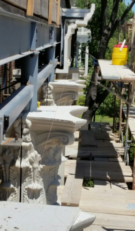 High-end Design of Corinthian Columns and Cornices   Structural Support Required for GFRC at Higher Elevation is much Simpler