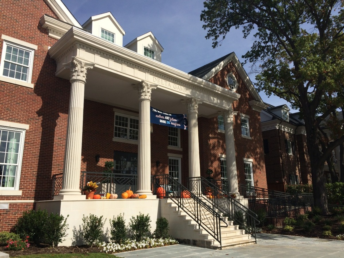 SMU Delta Gamma | Architectural GFRC Cladding | , Fluted GFRC Columns with Corinthian Capitals