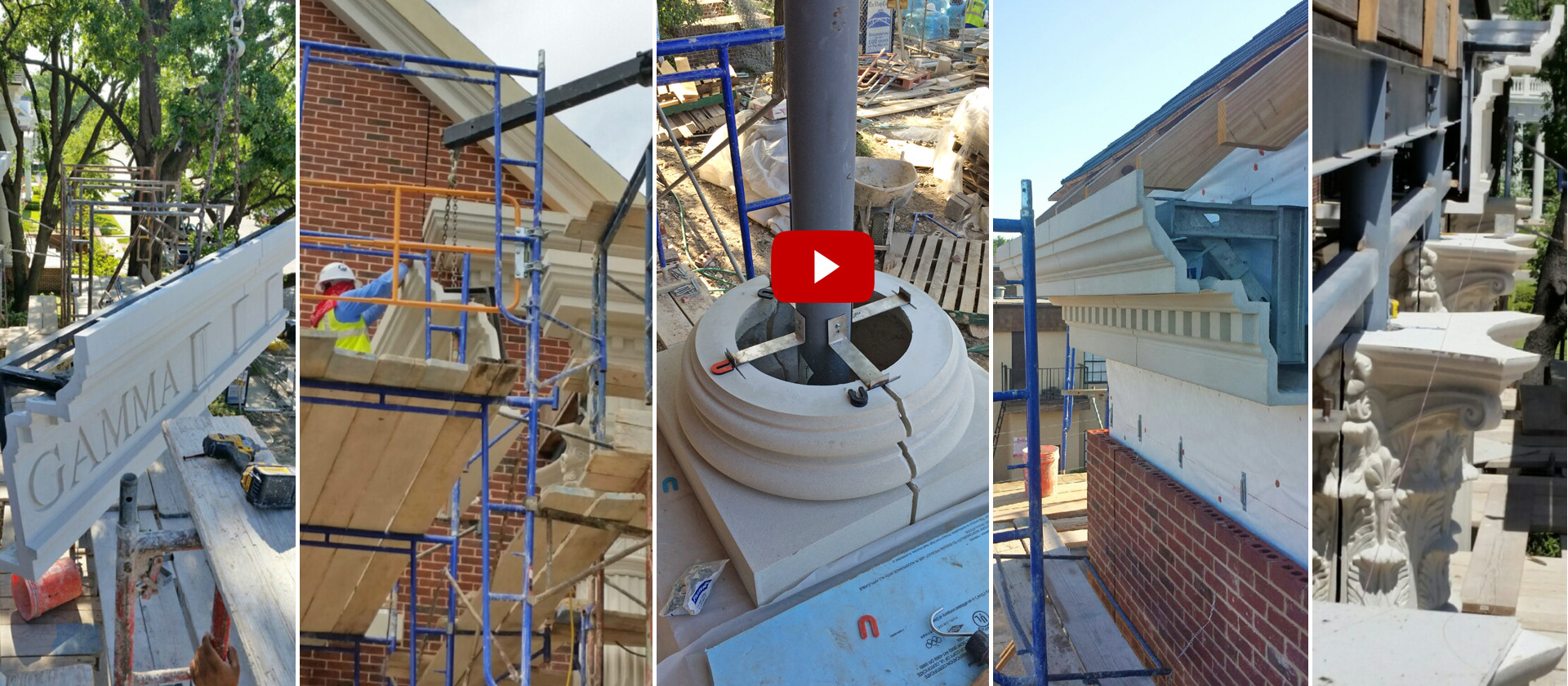 Architectural GFRC | Pre-engineered, Built-in Connections | Installation Support | Installation of GFRC Products at SMU Delta Gamma Sorority House
