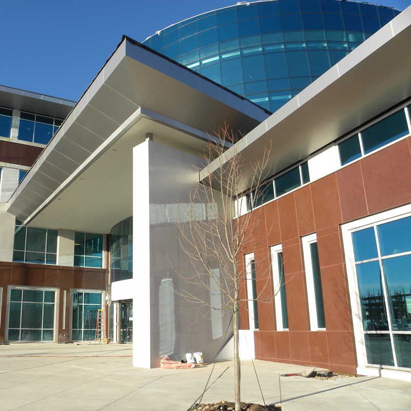Higher Education Corporate Headquarters Building - Cast stone, GFRC with glass, steel structure
