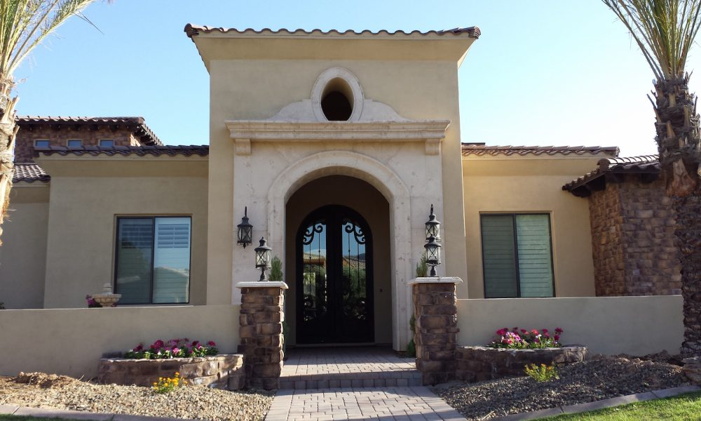 Entry Way Design using Architectural Precast Concrete, Cast Stone