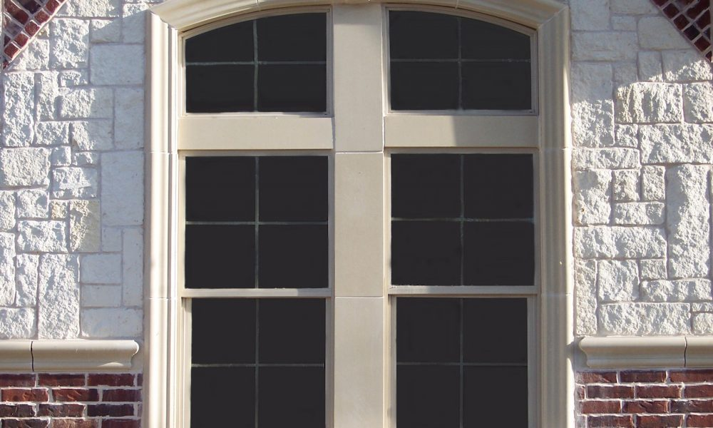Exterior Ornamental Design using Cast Stone, GFC - Home Upgrade Package Designed with Builder