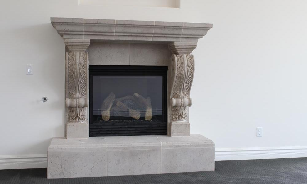 Fireplace Design with Custom Corbels, Architectural Trim