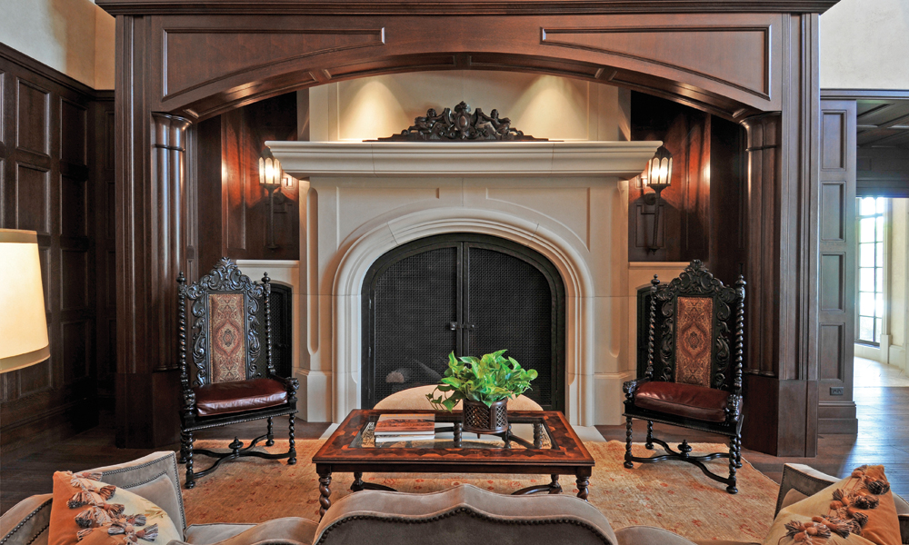 Dallas Country Club - Custom Design Fireplace