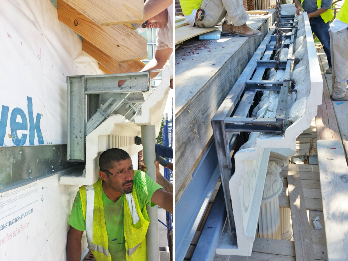 Connections, Installation Anchors are Pre-engineered in GFRC Products ensuring Smooth Project Execution and much Simpler Installation