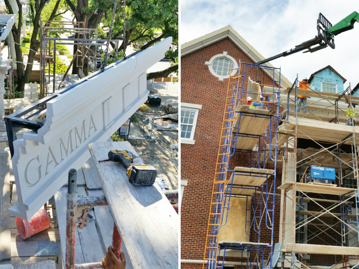 Light Weight of GFRC Panels Minimizes need for Heavy Construction Equipment   Cost-effecitve, Much Simpler Construction