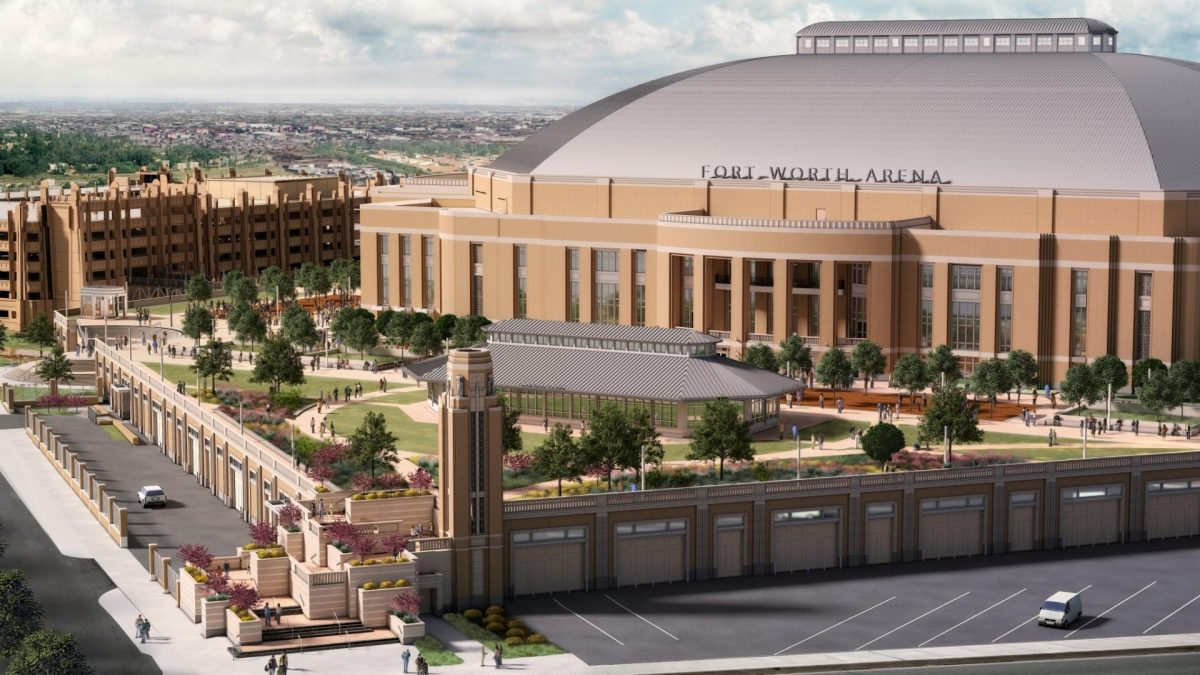 Dickies Arena: Fort Worth Multi-Purpose Arena | East Side Elevation | HKS Architects, David M Schwarz Architects