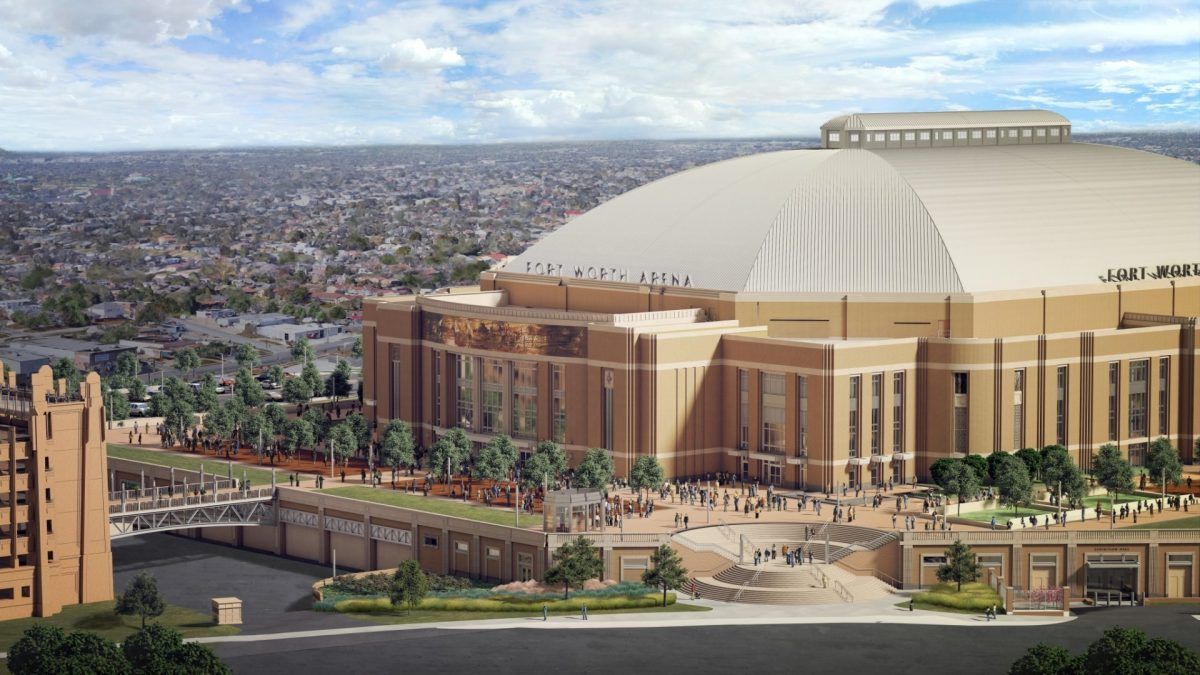 Dickies Arena: Fort Worth Multi-Purpose Arena | South Side Elevation | HKS Architects, David M Schwarz Architects