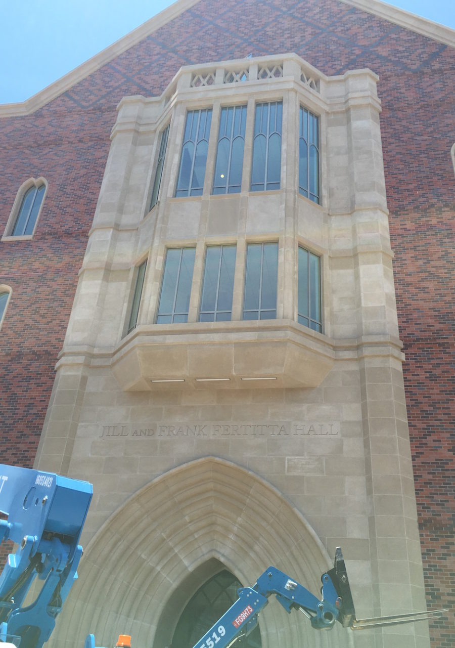 Jill and Frank Fertitta Hall, Marshall School of Business, USC - Cast Stone Grand Entry that is more than Five Stories High