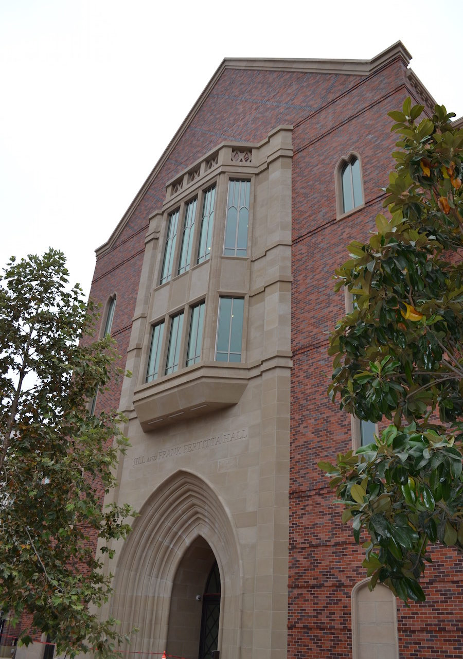 Monolithic Stone Design that is more than Five Stories High | USC Marshall Fertitta Hall
